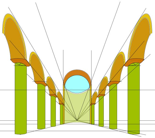 Souvent Navata di una cattedrale – prospettiva | disegnare da adulti QC24